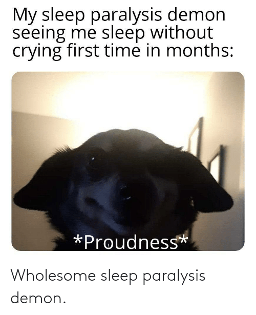 Wholesome: Wholesome sleep paralysis demon.