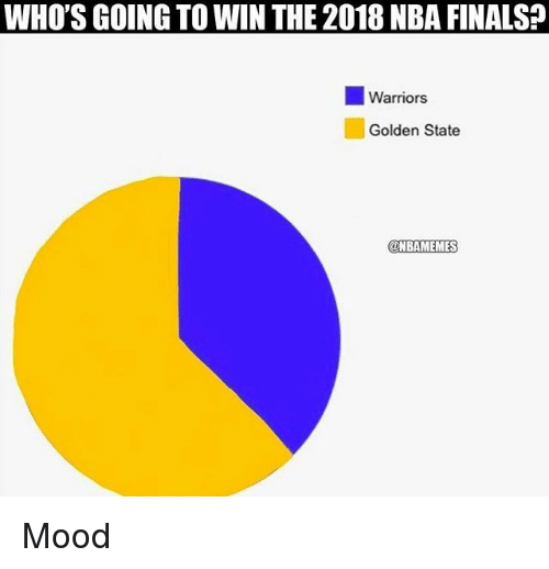 Finals, Mood, and Nba: WHO'S GOING TO WIN THE 2018 NBA FINALS  11 Warriors  Golden State  @NBAMEMES Mood