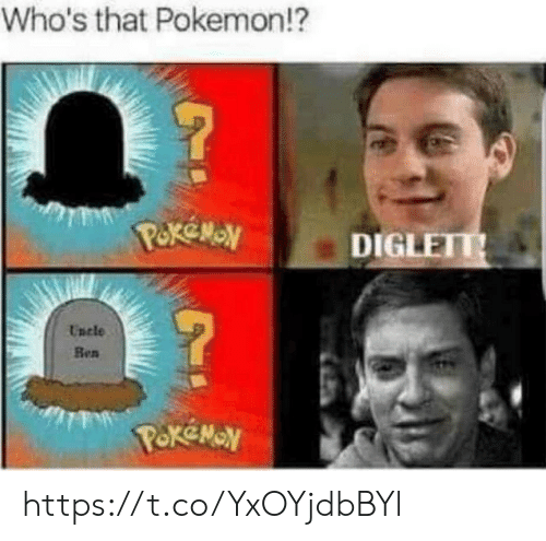Pokemon, Diglett, and Whos That Pokemon: Who's that Pokemon!?  DIGLETT  Encle  Ben https://t.co/YxOYjdbBYl