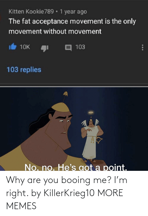 Why Are: Why are you booing me? I'm right. by KillerKrieg10 MORE MEMES
