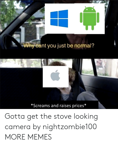 Be Normal: Why cant you just be normal?  *Screams and raises prices* Gotta get the stove looking camera by nightzombie100 MORE MEMES