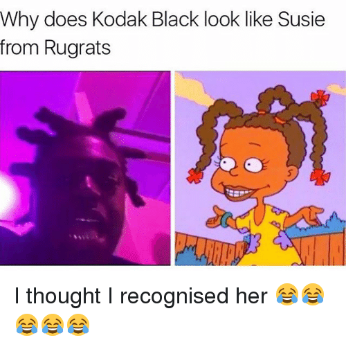 Memes, Rugrats, and 🤖: Why does Kodak Black look like Susie  from Rugrats I thought I recognised her 😂😂😂😂😂