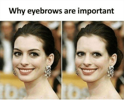Memes, 🤖, and Why: Why eyebrows are important