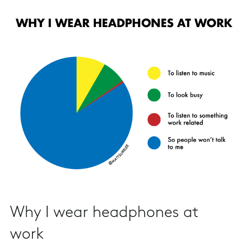 wear: Why I wear headphones at work