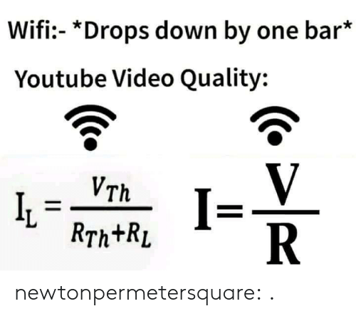 Tumblr, youtube.com, and Blog: Wifi- *Drops down by one bar*  Youtube Video Quality:  V  R  VTh  RTh+RL newtonpermetersquare:  .