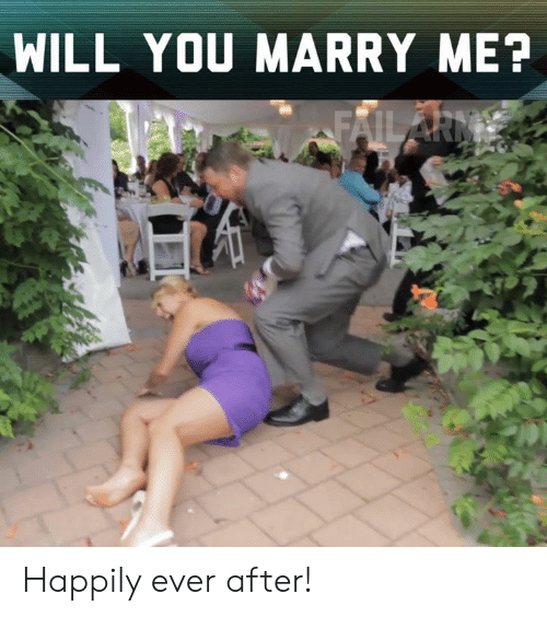 Ever After: WILL YOU MARRY ME? Happily ever after!
