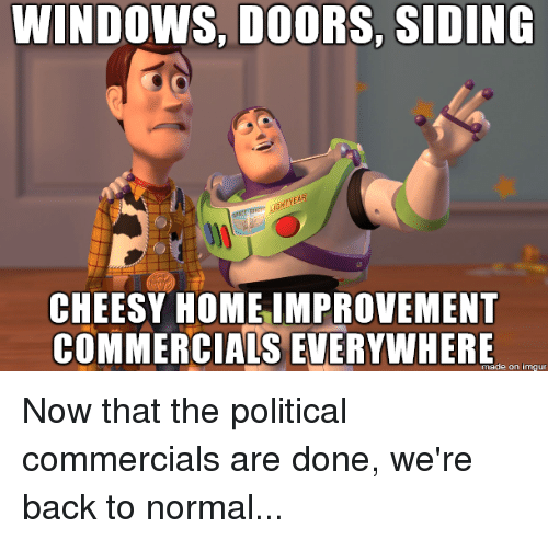 WINDOWS DOORS SIDING CHEESY HOME IMPROVEMENT COMMERCIALS EVERYWHERE