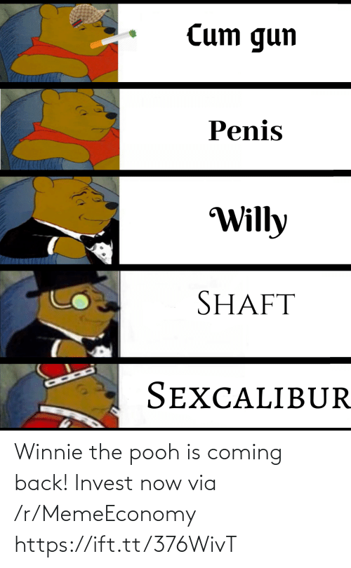 Coming Back: Winnie the pooh is coming back! Invest now via /r/MemeEconomy https://ift.tt/376WivT