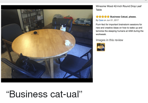 Funny, Business, And How To: Winsome Wood 42 Inch Round Drop Leaf