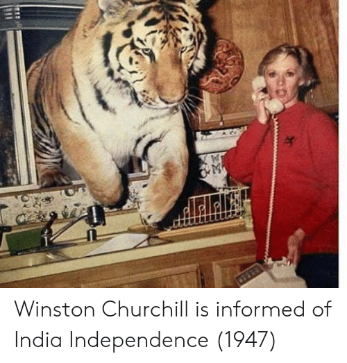 India, Winston Churchill, and Churchill: Winston Churchill is informed of India Independence (1947)