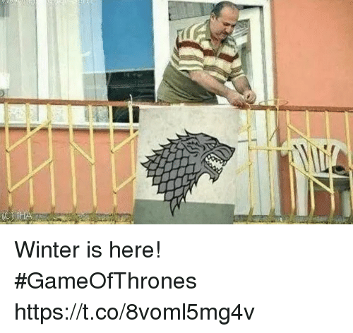 winter is here: Winter is here! #GameOfThrones https://t.co/8voml5mg4v