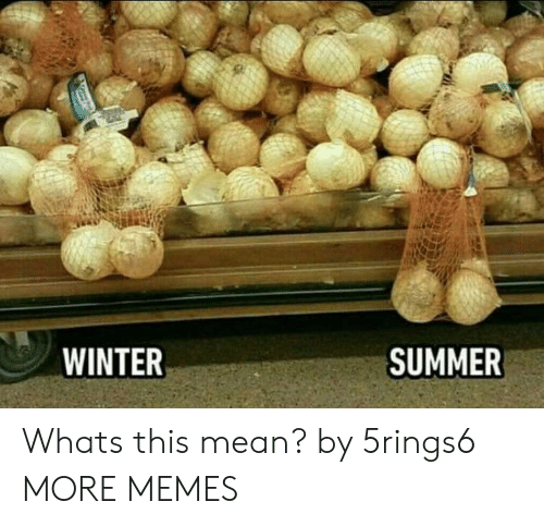 Dank, Memes, and Target: WINTER  SUMMER Whats this mean? by 5rings6 MORE MEMES