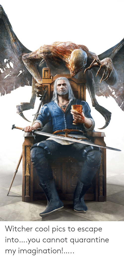 witcher: Witcher cool pics to escape into….you cannot quarantine my imagination!…..