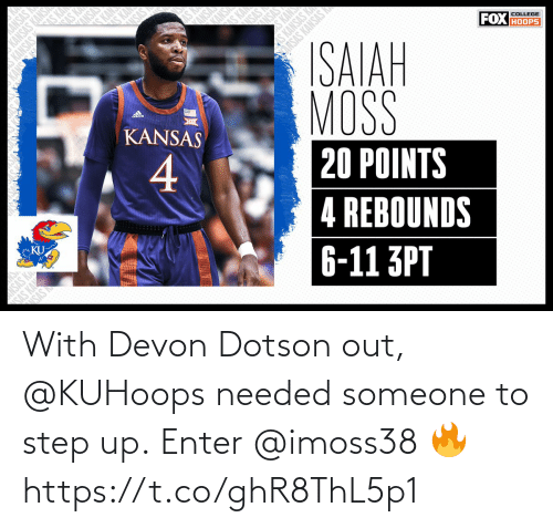 devon: With Devon Dotson out, @KUHoops needed someone to step up.  Enter @imoss38 🔥 https://t.co/ghR8ThL5p1