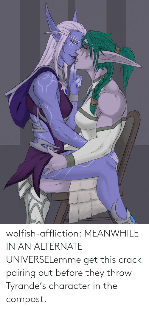 character: wolfish-affliction:  MEANWHILE IN AN ALTERNATE UNIVERSELemme get this crack pairing out before they throw Tyrande's character in the compost.