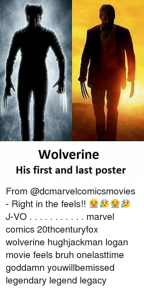 posterization: Wolverine  His first and last poster From @dcmarvelcomicsmovies - Right in the feels!! 😭😰😭😰 《J-VO》 . . . . . . . . . . . marvel comics 20thcenturyfox wolverine hughjackman logan movie feels bruh onelasttime goddamn youwillbemissed legendary legend legacy