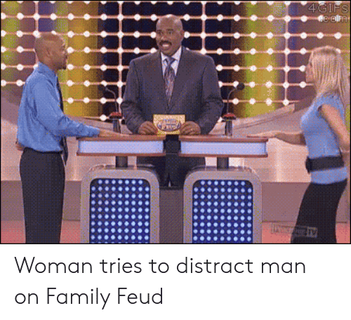 Family Feud: Woman tries to distract man on Family Feud