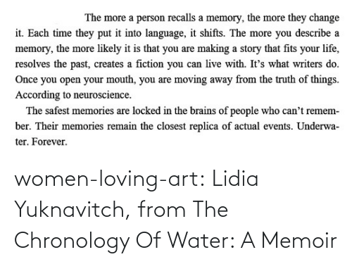 Loving: women-loving-art:   Lidia Yuknavitch, from The Chronology Of Water: A Memoir