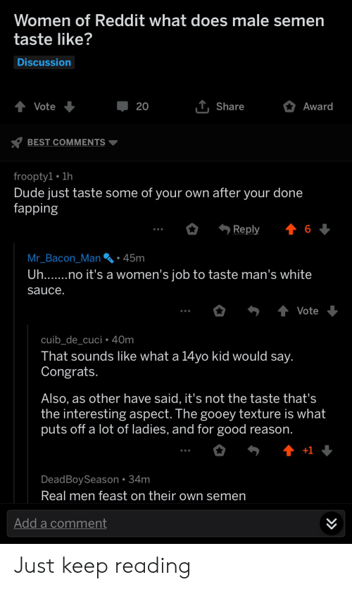 what does cum taste like