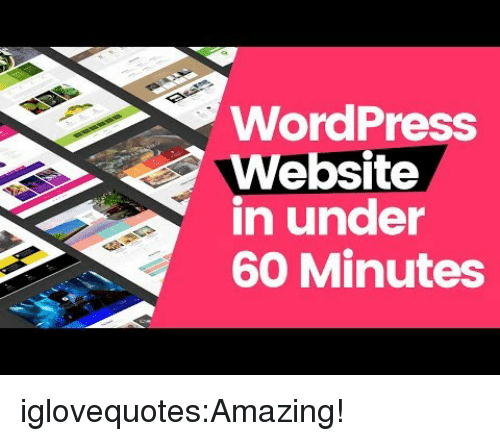 60 minutes: WordPress  Website  in under  60 Minutes iglovequotes:Amazing!