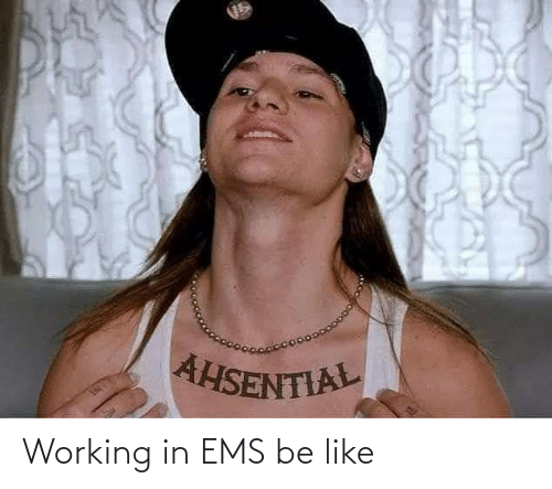 ems: Working in EMS be like