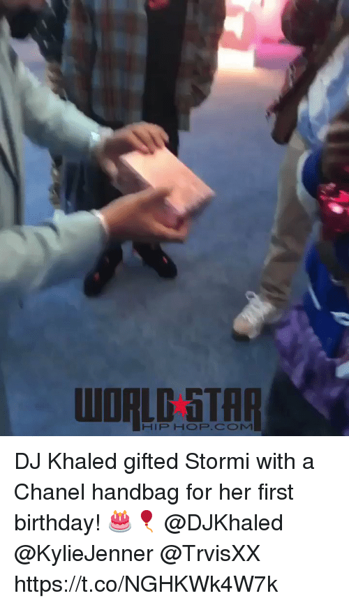 Birthday, DJ Khaled, and Chanel: WORLD 5TAR  HIP HOP.COM DJ Khaled gifted Stormi with a Chanel handbag for her first birthday! 🎂🎈 @DJKhaled @KylieJenner @TrvisXX https://t.co/NGHKWk4W7k