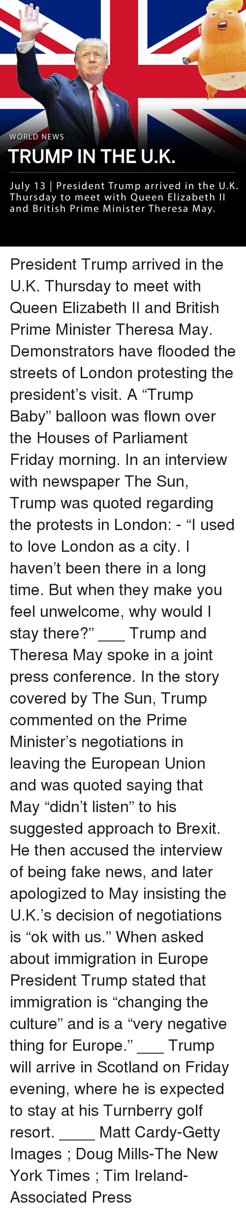 """Doug, Fake, and Friday: WORLD NEWS  TRUMP IN THE U.K  July 13 