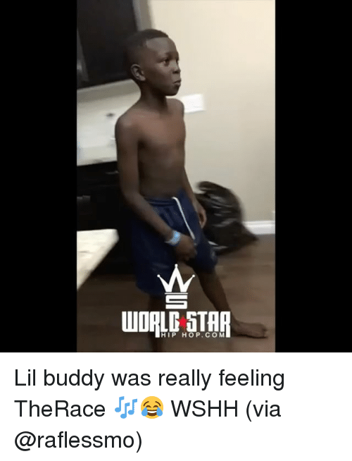 Memes, Wshh, and Star: WORLD STAR  HIP HOP.COM Lil buddy was really feeling TheRace 🎶😂 WSHH (via @raflessmo)
