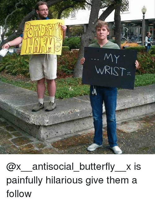 Antisociable: WRIST @x__antisocial_butterfly__x is painfully hilarious give them a follow