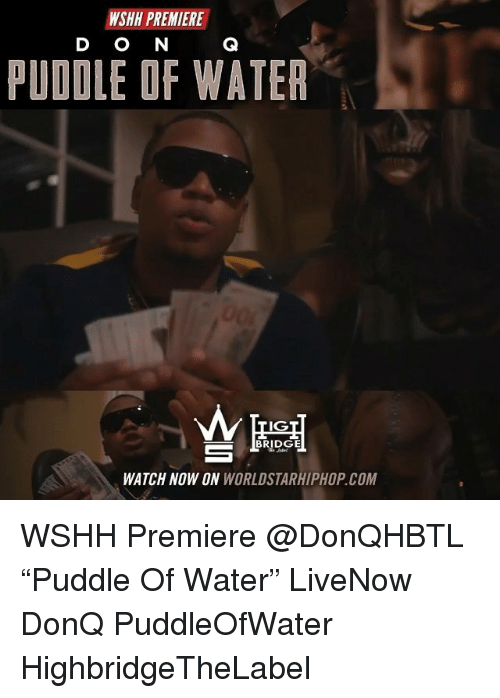 "Memes, Worldstarhiphop, and Wshh: WSHH PREMIERE  D O N  PUDDLE OF WATER  IG  WATCH NOW ON WORLDSTARHIPHOP.COM WSHH Premiere @DonQHBTL ""Puddle Of Water"" LiveNow DonQ PuddleOfWater HighbridgeTheLabel"