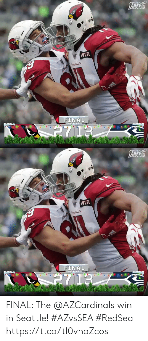 Adidas: WVB  CARDINALS  FINAL  2713  CARDAL   WVB  CARDINALS  adidas  FINAL  2713  CARDIAL FINAL: The @AZCardinals win in Seattle! #AZvsSEA #RedSea https://t.co/tl0vhaZcos