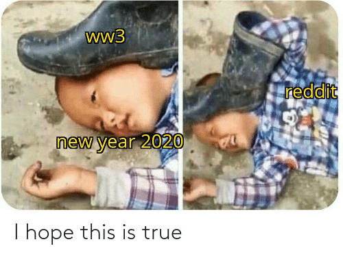 Hope: ww3  reddit  new year 2020 I hope this is true