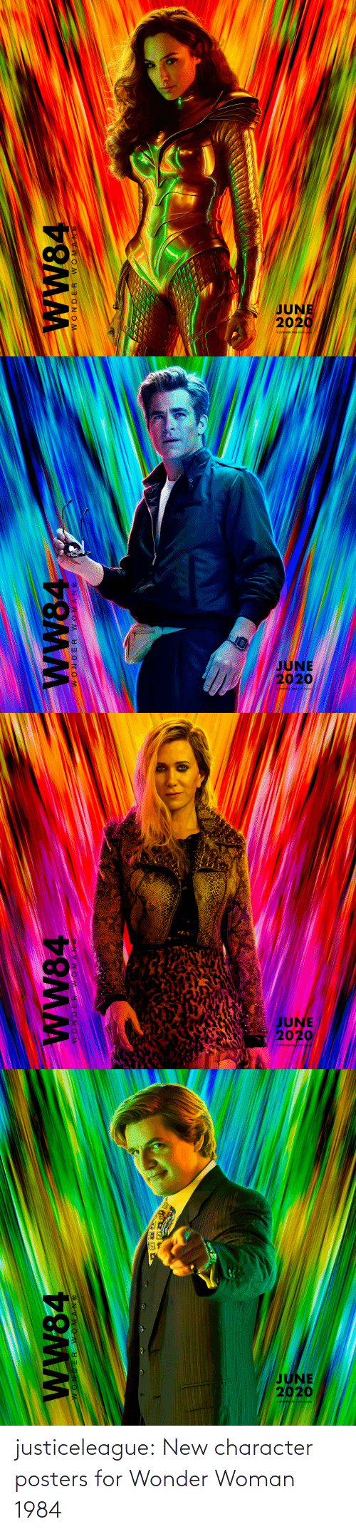 Wonder Woman: WW84  JI NVWO M   JUNE  2020  wW84  WONDER WOMANC   JUNE  2020  2019 WBEI TMGOC  wW84  WONDER WOMAN C   JUNE  2020  wW84  30 NVWOM N OM justiceleague: New character posters for Wonder Woman 1984