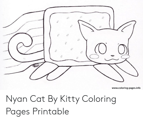 Wwwcoloring Pagesinfo Nyan Cat By Kitty Coloring Pages