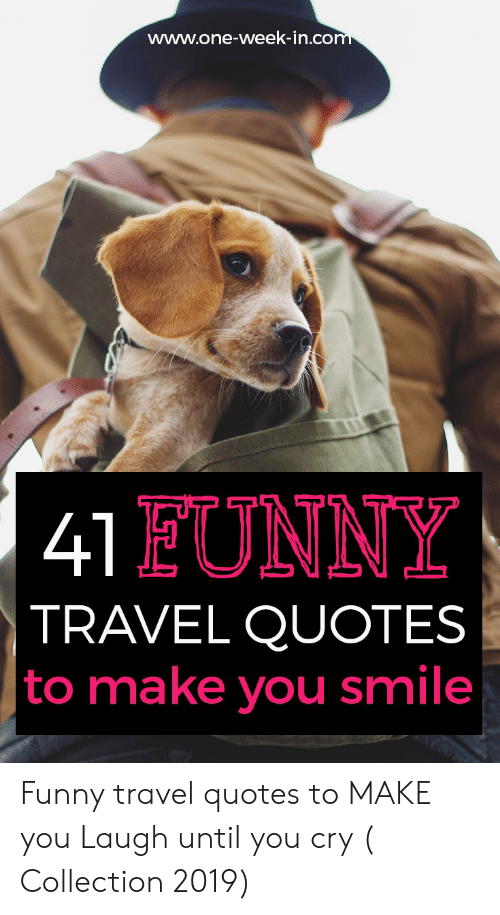 one week inco eunny travel quotes to make you smile funny