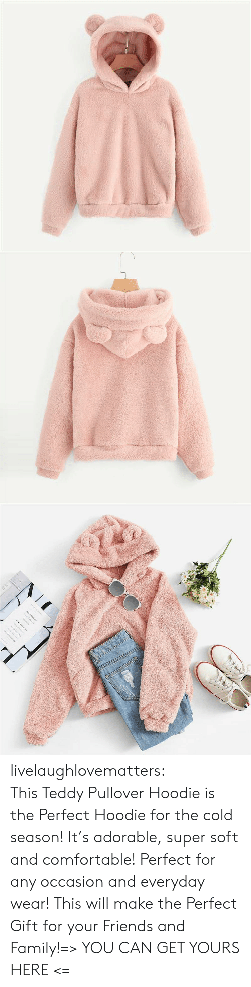 Teddy: www.w. livelaughlovematters:  This Teddy Pullover Hoodie is the Perfect Hoodie for the cold season! It's adorable, super soft and comfortable! Perfect for any occasion and everyday wear! This will make the Perfect Gift for your Friends and Family!=> YOU CAN GET YOURS HERE <=