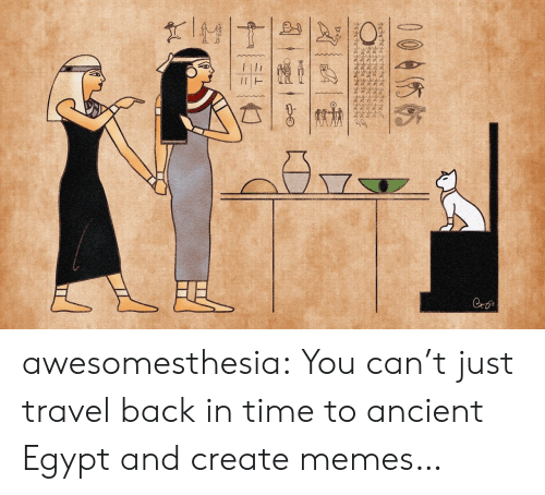 Create Memes: wwww.  Cro  004你帖  十一张一亡 awesomesthesia:  You can't just travel back in time to ancient Egypt and create memes…