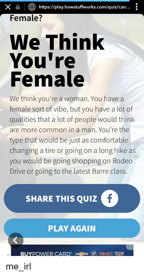 X Httpsplayhowstuffworkscomquizcan Female? We Think You're
