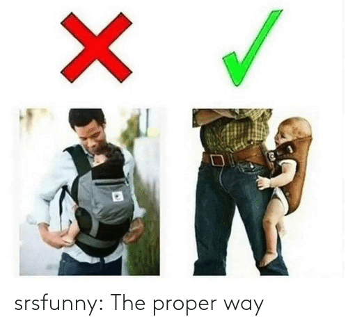 Tumblr, Blog, and Net: X srsfunny:  The proper way