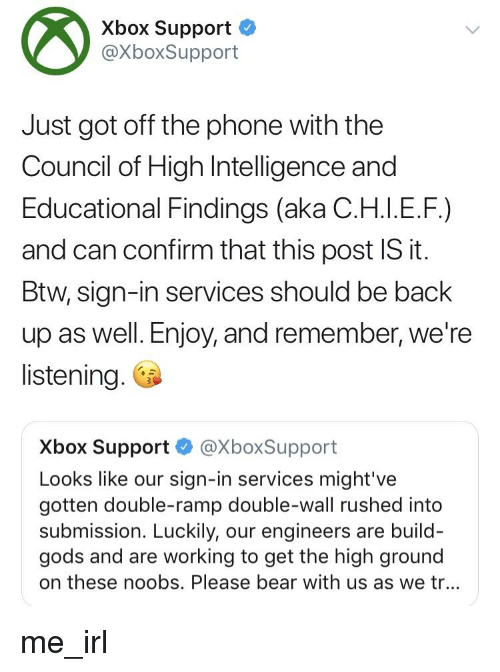 Xbox Support Just Got Off the Phone With the Council of High