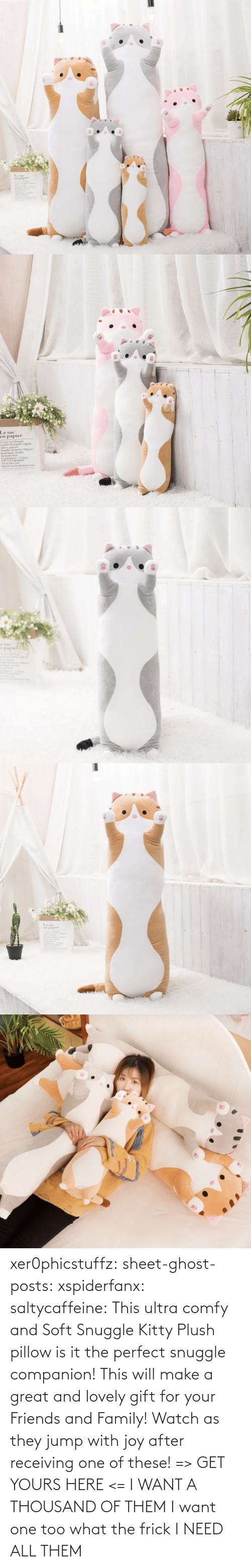 Frick: xer0phicstuffz:  sheet-ghost-posts: xspiderfanx:  saltycaffeine:  This ultra comfy and Soft Snuggle Kitty Plush pillow is it the perfect snuggle companion! This will make a great and lovely gift for your Friends and Family! Watch as they jump with joy after receiving one of these! => GET YOURS HERE <=    I WANT A THOUSAND OF THEM  I want one too what the frick    I NEED ALL THEM