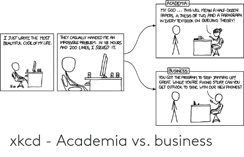 Business: xkcd - Academia vs. business