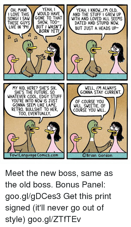 meet the new boss same as old meaning slang