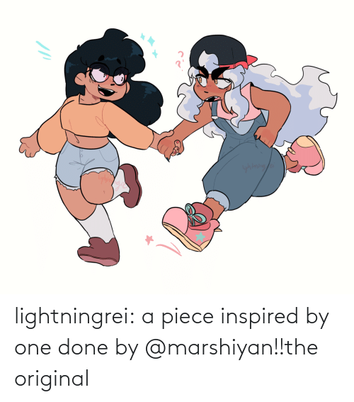 Original: yhtning/a lightningrei:  a piece inspired by one done by @marshiyan!!the original