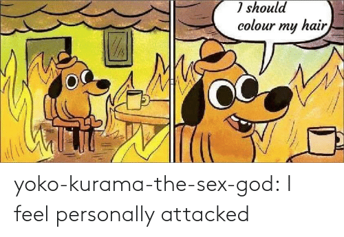 God: yoko-kurama-the-sex-god: I feel personally attacked
