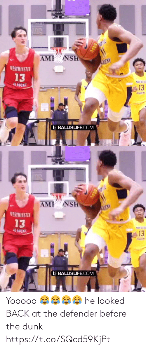 defender: Yooooo 😂😂😂😂 he looked BACK at the defender before the dunk https://t.co/SQcd59KjPt