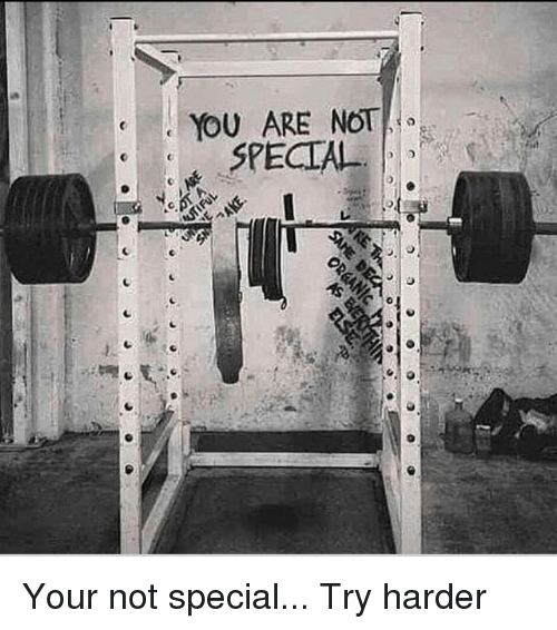 Memes, 🤖, and You: YOU ARE NOT  SPECIAL Your not special... Try harder