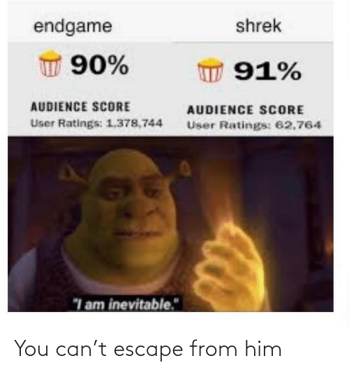 him: You can't escape from him