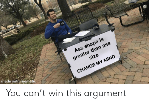 argument: You can't win this argument