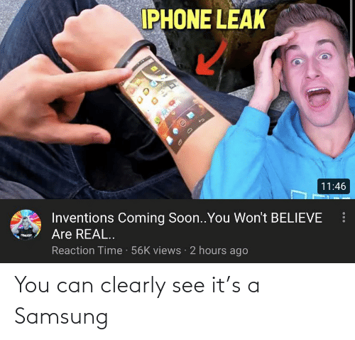 Samsung: You can clearly see it's a Samsung